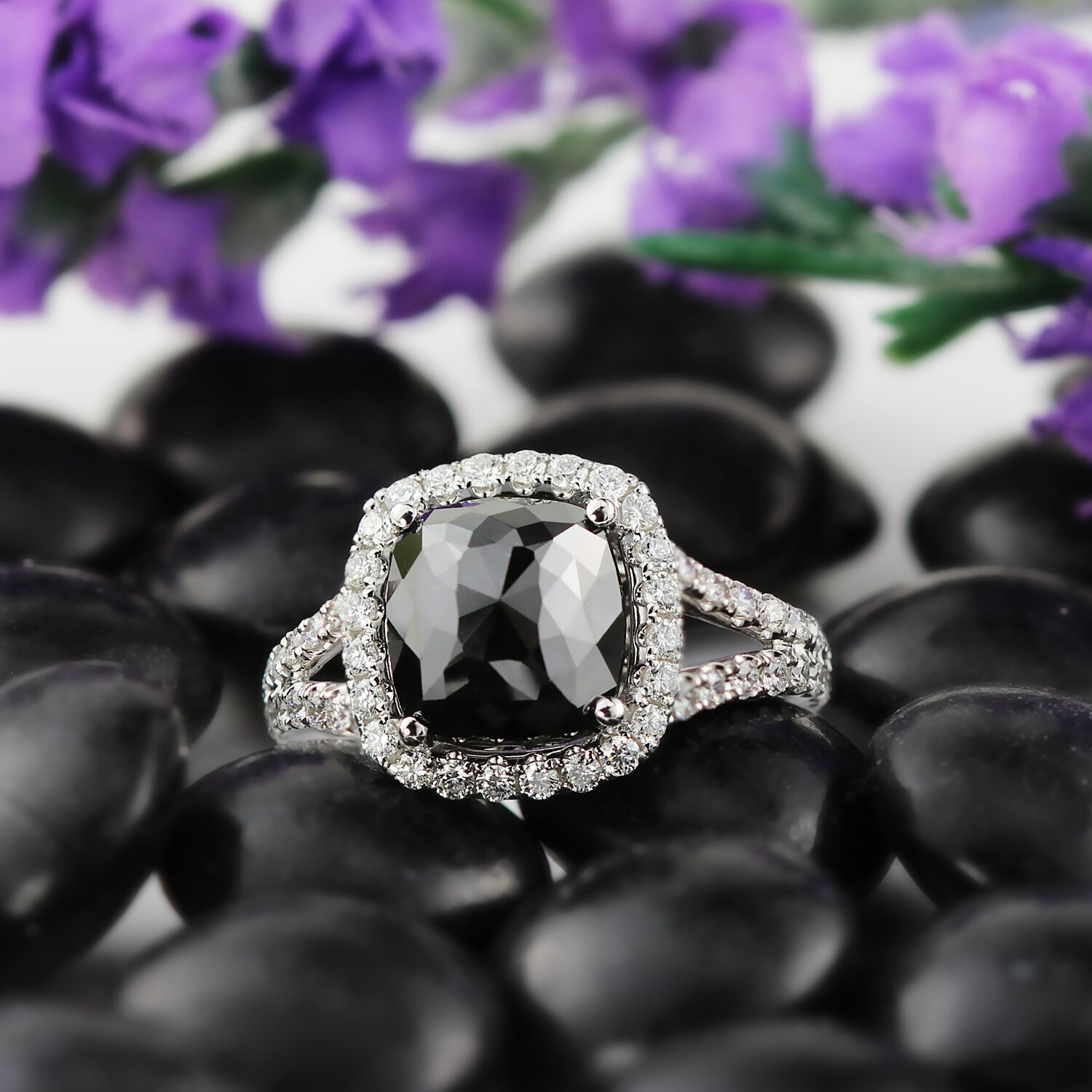 The Bold Engagement Ring Trend You Won't Guess: Black Diamond Rings