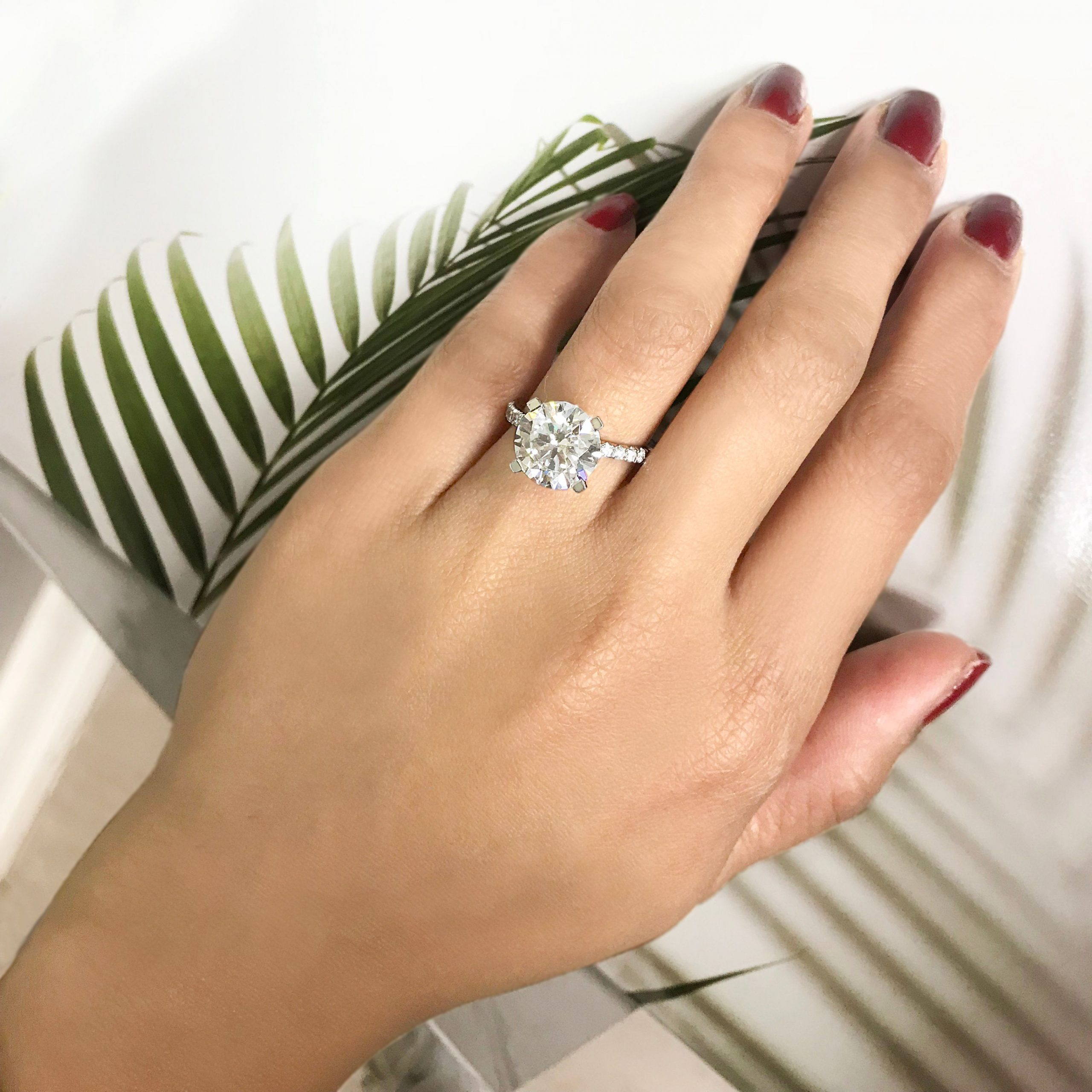 Manicure Ideas and Tips to Announce You're Newly Engaged: Engagement Ring Selfies