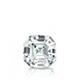 Certified 0.50 cttw Asscher Diamond Stud Earrings in 14k White Gold 4-Prong Basket (I-J, I1)
