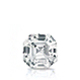 Certified 0.62 cttw Asscher Diamond Stud Earrings in 14k White Gold 4-Prong Basket (I-J, I1)