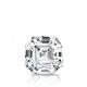 Certified 0.75 cttw Asscher Diamond Stud Earrings in 14k White Gold 4-Prong Basket (I-J, I1)