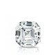 Certified 1.00 cttw Asscher Diamond Stud Earrings in 14k White Gold 4-Prong Basket (I-J, I1)