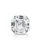 Certified 14k White Gold 4-Prong Basket Asscher Diamond Drop Earrings 1.00 ct. tw. (I-J, I1)