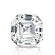 Certified 2.00 cttw Asscher Diamond Stud Earrings in 14k White Gold 4-Prong Basket (I-J, I1)