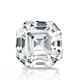 Certified 14k White Gold 4-Prong Basket Asscher Diamond Drop Earrings 2.00 ct. tw. (I-J, I1)