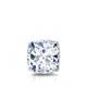 Certified 0.50 cttw Cushion Diamond Stud Earrings in 14k White Gold 4-Prong Basket (I-J, I1)