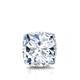 Certified 0.75 cttw Cushion Diamond Stud Earrings in 14k White Gold 4-Prong Basket (I-J, I1)