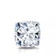 Certified 1.00 cttw Cushion Diamond Stud Earrings in 14k White Gold 4-Prong Basket (I-J, I1)