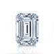 Certified 14k White Gold 4-Prong Basket Emerald Diamond Drop Earrings 1.50 ct. tw. (I-J, I1)