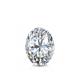 Certified 0.50 cttw Oval Diamond Stud Earrings in 14k White Gold 4-Prong Basket (I-J, I1)