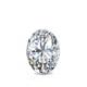 Certified 0.62 cttw Oval Diamond Stud Earrings in 14k White Gold 4-Prong Basket (I-J, I1)
