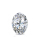 Certified 0.75 cttw Oval Diamond Stud Earrings in 14k White Gold 4-Prong Basket (I-J, I1)