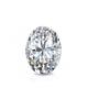 Certified 1.00 cttw Oval Diamond Stud Earrings in 14k White Gold 4-Prong Basket (I-J, I1)