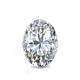 Certified 1.50 cttw Oval Diamond Stud Earrings in 14k White Gold 4-Prong Basket (I-J, I1)