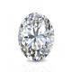 Certified 2.00 cttw Oval Diamond Stud Earrings in 14k White Gold 4-Prong Basket (I-J, I1)
