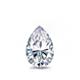 Certified 0.75 cttw Pear Shape Diamond Stud Earrings in 14k White Gold V-End Prong (I-J, I1)