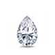 Certified 14k White Gold V-End Prong Pear Diamond Drop Earrings 1.00 ct. tw. (G-H, SI)