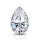 Certified 2.00 cttw Pear Shape Diamond Stud Earrings in 14k White Gold V-End Prong (I-J, I1)