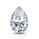 Certified 14k White Gold V-End Prong Pear Diamond Drop Earrings 2.00 ct. tw. (G-H, SI)