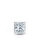 Certified 0.25 cttw Princess Diamond Stud Earrings in 14k White Gold 4-Prong Basket (I-J, I1)