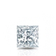 Certified 0.50 cttw Princess Diamond Stud Earrings in 14k White Gold 4-Prong Basket (G-H, VS)