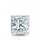 Certified 1.00 cttw Princess Diamond Stud Earrings in 14k White Gold 4-Prong Basket (I-J, I1)