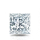 Certified 14k White Gold 4-Prong Basket Princess Diamond Drop Earrings 1.25 ct. tw. (I-J, I1)