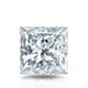 Certified 1.50 cttw Princess Diamond Stud Earrings in 14k White Gold 4-Prong Basket (I-J, I1)