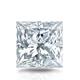 Certified 2.00 cttw Princess Diamond Stud Earrings in 14k White Gold 4-Prong Basket (I-J, I1)