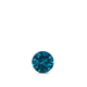Certified 0.13 ct. tw. Round Blue Diamond Solitaire Pendant in 14k White Gold 4-Prong Basket (Blue, SI1-SI2)