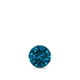 Certified 0.17 ct. tw. Round Blue Diamond Solitaire Pendant in 14k White Gold 4-Prong Basket (Blue, SI1-SI2)