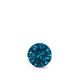 Certified 0.25 ct. tw. Round Blue Diamond Solitaire Pendant in 14k White Gold 4-Prong Basket (Blue, SI1-SI2)
