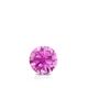 Certified 0.25 ct. tw. Round Pink Sapphire Gemstone Solitaire Pendant in 14k White Gold 4-Prong Basket (Pink, AAA)