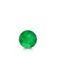 Certified 0.25 cttw Round Green Emerald Gemstone Stud Earrings in 14k White Gold 4-Prong Basket (Green, AAA)