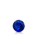 Certified 0.25 cttw Round Blue Sapphire Gemstone Stud Earrings in 14k White Gold 4-Prong Basket (Blue, AAA)