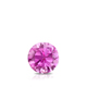 Certified 0.33 ct. tw. Round Pink Sapphire Gemstone Solitaire Pendant in 14k White Gold 4-Prong Basket (Pink, AAA)