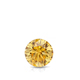 Certified 0.33 cttw Round Yellow Diamond Stud Earrings in 14k White Gold 4-Prong Basket (Yellow, SI1-SI2)