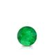 Certified 0.33 cttw Round Green Emerald Gemstone Stud Earrings in 14k White Gold 4-Prong Basket (Green, AAA)