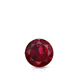Certified 0.33 cttw Round Ruby Gemstone Stud Earrings in 14k White Gold 4-Prong Basket (Red, AAA)