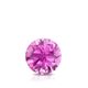 Certified 0.40 ct. tw. Round Pink Sapphire Gemstone Solitaire Pendant in 14k White Gold 4-Prong Basket (Pink, AAA)
