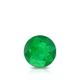 Certified 0.40 cttw Round Green Emerald Gemstone Stud Earrings in 14k White Gold 4-Prong Basket (Green, AAA)