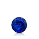 Certified 0.40 cttw Round Blue Sapphire Gemstone Stud Earrings in 14k White Gold 4-Prong Basket (Blue, AAA)