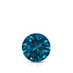 Certified 0.50 ct. tw. Round Blue Diamond Solitaire Pendant in 14k White Gold 4-Prong Basket (Blue, SI1-SI2)