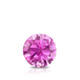 Certified 0.50 ct. tw. Round Pink Sapphire Gemstone Solitaire Pendant in 14k White Gold 4-Prong Basket (Pink, AAA)