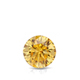 Certified 0.50 cttw Round Yellow Diamond Stud Earrings in 14k White Gold 4-Prong Basket (Yellow, SI1-SI2)