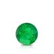 Certified 0.50 cttw Round Green Emerald Gemstone Stud Earrings in 14k White Gold 4-Prong Basket (Green, AAA)