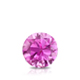Certified 0.62 ct. tw. Round Pink Sapphire Gemstone Solitaire Pendant in 14k White Gold 4-Prong Basket (Pink, AAA)
