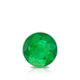 Certified 0.62 cttw Round Green Emerald Gemstone Stud Earrings in 14k White Gold 4-Prong Basket (Green, AAA)
