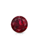Certified 0.62 cttw Round Ruby Gemstone Stud Earrings in 14k White Gold 4-Prong Basket (Red, AAA)
