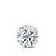 Certified 0.63 ct. tw. Round Diamond Solitaire Pendant in 14k White Gold 4-Prong Basket (I-J, I1)